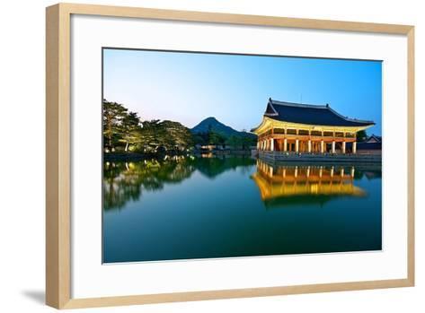 Gyeonghoeru Pavilion, Gyeongbokgung Palace, Seoul-Robert Koehler-Framed Art Print