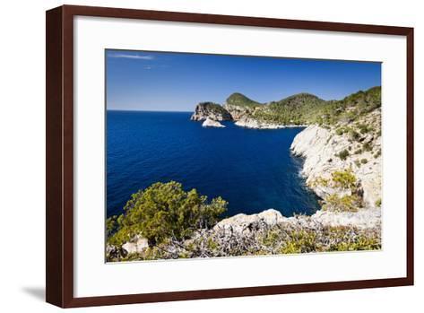 Ibiza Coastline at Cap Nono-Jorg Greuel-Framed Art Print