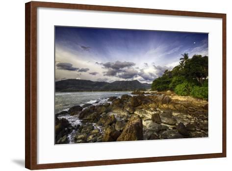 South Kamala Beach-Australian Land, City, People Scape Photographer-Framed Art Print