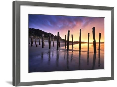 The Old Jetty Remains, St Clair Beach, Dunedin-Artie Photography (Artie Ng)-Framed Art Print