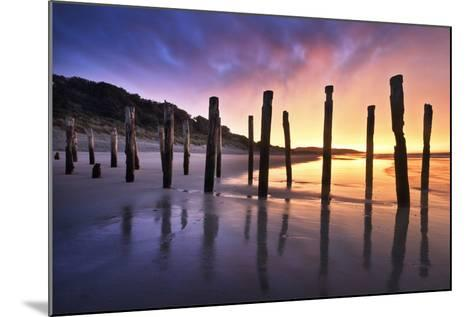The Old Jetty Remains, St Clair Beach, Dunedin-Artie Photography (Artie Ng)-Mounted Photographic Print