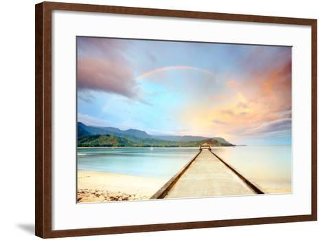 Kauai Hanalei Pier-M Swiet Productions-Framed Art Print