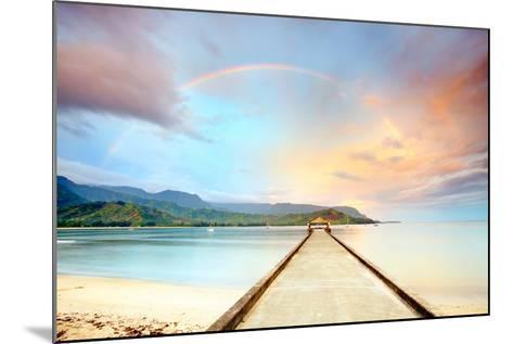 Kauai Hanalei Pier-M Swiet Productions-Mounted Photographic Print