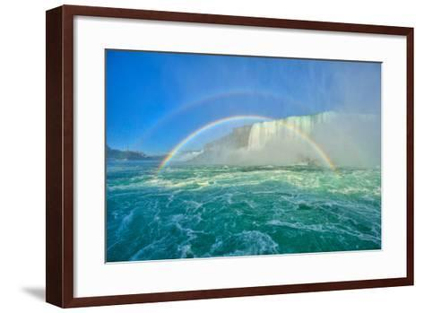 The Rainbow Bridge and Two Rainbows-www.35mmNegative.com-Framed Art Print
