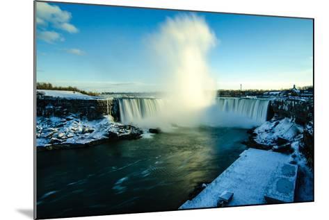 Snowy Niagara-Naeem Jaffer-Mounted Photographic Print