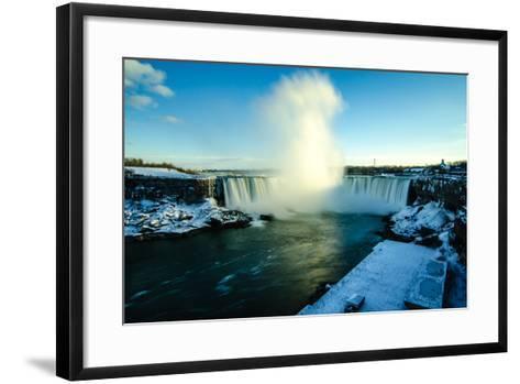Snowy Niagara-Naeem Jaffer-Framed Art Print