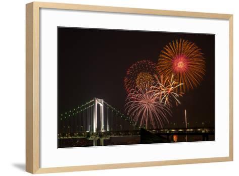Tokyo Bay Grand Fireworks Festival 2013-I love Photo and Apple.-Framed Art Print