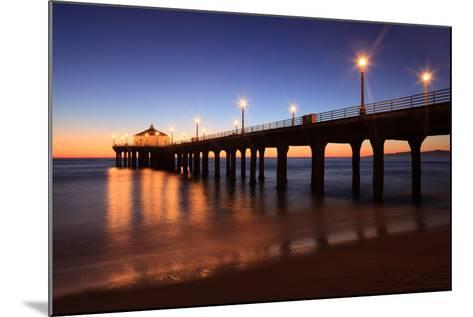 Manhattan Beach Pier-Jumper-Mounted Photographic Print