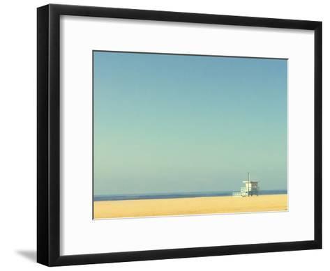 Life Guard Tower-Denise Taylor-Framed Art Print