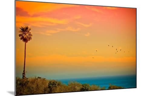 Light of Sun Setting on Malibu Beach-Albert Valles-Mounted Photographic Print