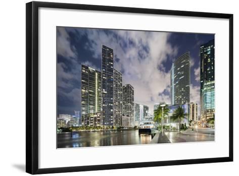 Miami River Cityscape at Dusk-Raimund Koch-Framed Art Print