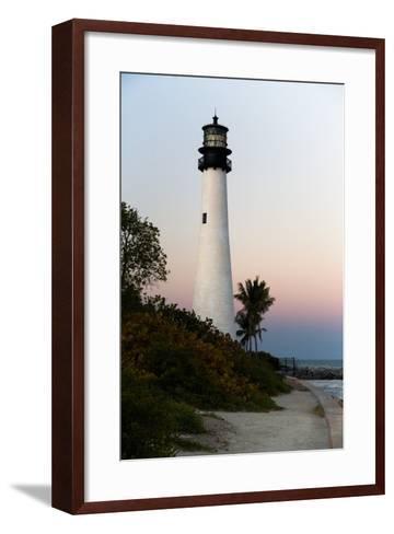 Key Biscayne Lighthouse-Steven Trainoff Ph.D.-Framed Art Print