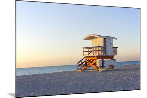 Early Morning on Beach-photo by dasar-Mounted Photographic Print