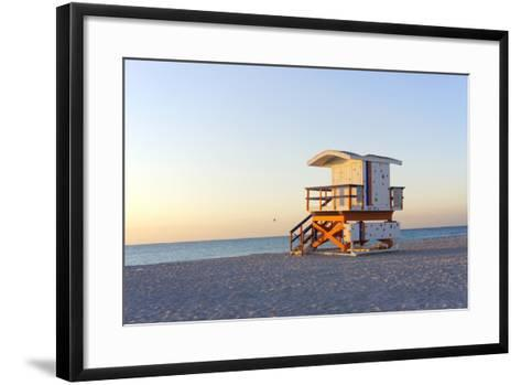 Early Morning on Beach-photo by dasar-Framed Art Print