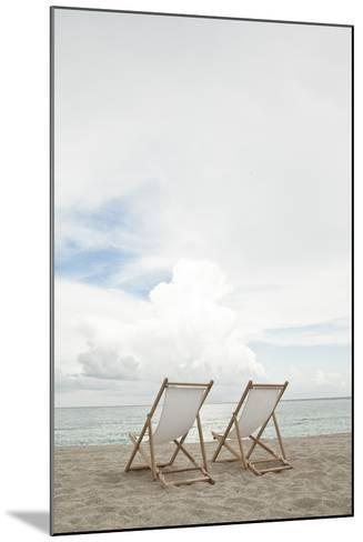 Two Empty Chairs on the Beach.-MoMo Productions-Mounted Photographic Print