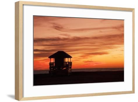 Lifeguard Post-Buena Vista Images-Framed Art Print