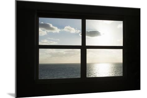 Miami Beach. Art Deco Window over the Ocean.-Buena Vista Images-Mounted Photographic Print