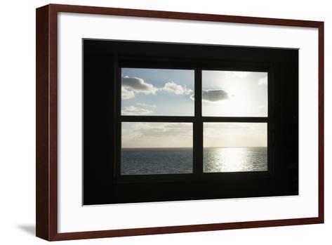 Miami Beach. Art Deco Window over the Ocean.-Buena Vista Images-Framed Art Print