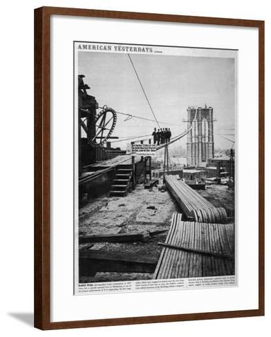 Brooklyn Bridge-Hulton Archive-Framed Art Print