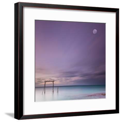 Heron Island Gantry-Bruce Hood-Framed Art Print