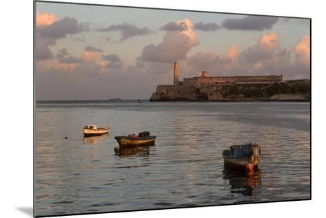 Fishing Boats and El Morro Lighthouse at Sunrise-Adam Jones-Mounted Photographic Print