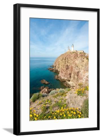 Cape of Gata Lighthouse in Andaluc??A, Spain-Asier-Framed Art Print