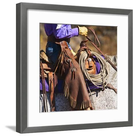 Cowgirl-Tetra Images-Framed Art Print