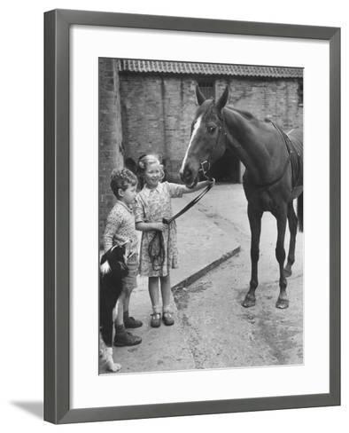 Child's Horse-Raymond Kleboe-Framed Art Print