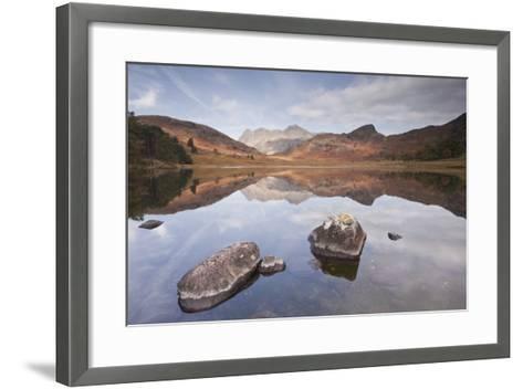 Blea Tarn and the Langdale Pikes.-Julian Elliott Photography-Framed Art Print
