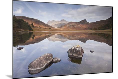 Blea Tarn and the Langdale Pikes.-Julian Elliott Photography-Mounted Photographic Print