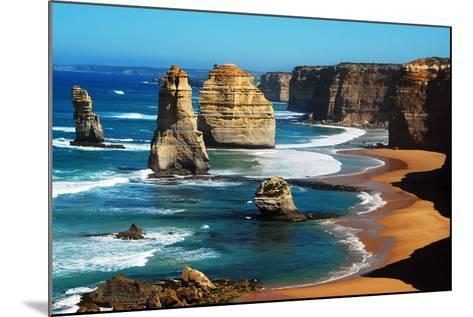 Apostles on Great Ocean Road, Melbourne-Tristan Brown-Mounted Photographic Print