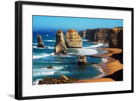 Apostles on Great Ocean Road, Melbourne-Tristan Brown-Framed Art Print