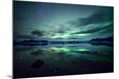 Northern Lights over Jokulsarlon-Matteo Colombo-Mounted Photographic Print