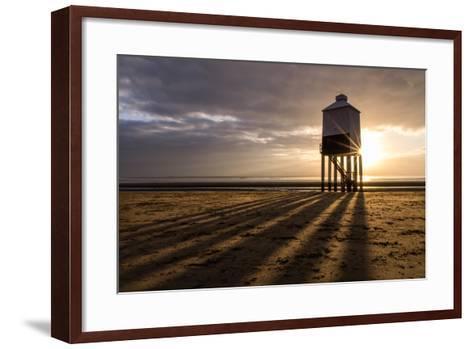 Burnham-On-Sea Lighthouse Shadows-Gary Clark - CreativeFocusPhotography-Framed Art Print