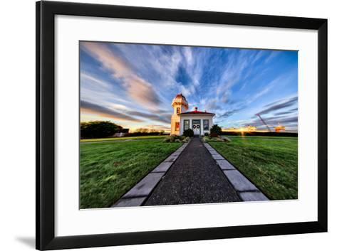Mukilteo Lighthouse and Ferry, Washington-Michael Riffle-Framed Art Print