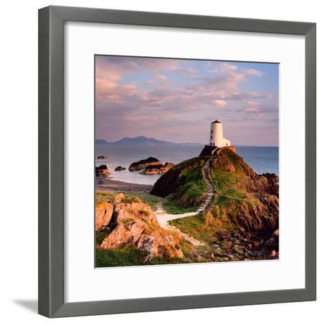 Llanddwyn Lighthouse-Osian Rees-Framed Art Print