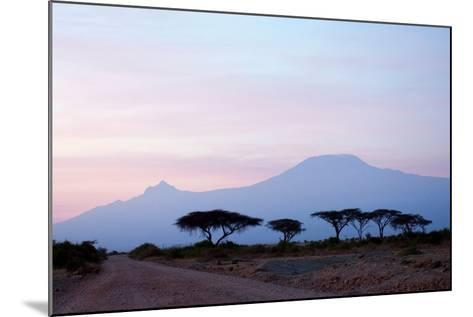 Sunrise View of Mount Kilimanjaro behind a Line of Acacia Trees. Amboseli National Park, Kenya-Cultura Travel/Philip Lee Harvey-Mounted Photographic Print