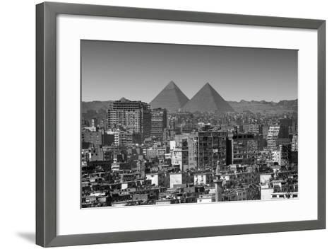 Cityscape of Cairo, Pyramids, Egypt-Anik Messier-Framed Art Print