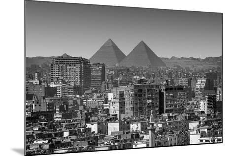 Cityscape of Cairo, Pyramids, Egypt-Anik Messier-Mounted Photographic Print