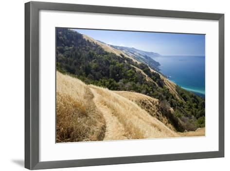 Coastal Trail, along the Pacific Ocean.-Kodiak Greenwood-Framed Art Print