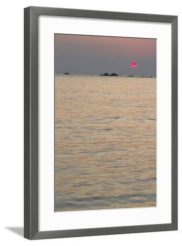 Sunset on the Ocean, Goa, India-James Gritz-Framed Art Print