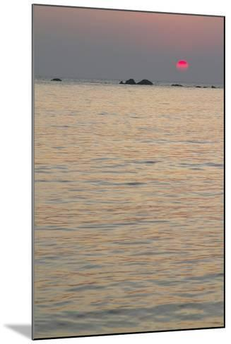 Sunset on the Ocean, Goa, India-James Gritz-Mounted Photographic Print