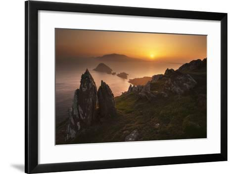 Sun Setting over Rural Rock Formations-George Karbus Photography-Framed Art Print