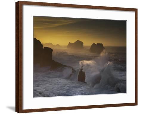 Sunset in Arnia-Martin Zalba-Framed Art Print