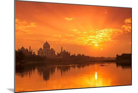 Taj Mahal and Yamuna River at Sunset-Adrian Pope-Mounted Photographic Print