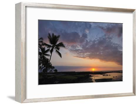 Panorama Sunset with Palms, Keauhou, Hawaii-Alvis Upitis-Framed Art Print