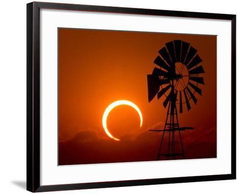 2012 Annular Solar Eclipse-Willoughby Owen-Framed Art Print