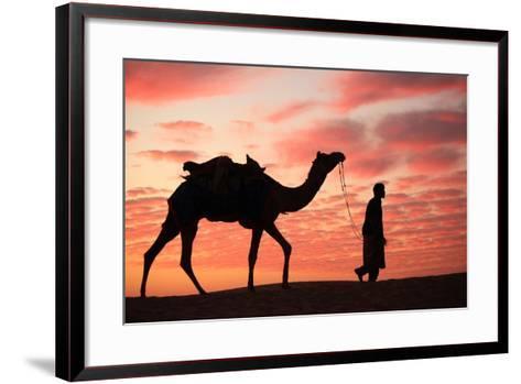 Sunset in Jaisalmer-Milind Torney-Framed Art Print