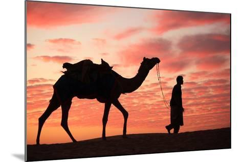Sunset in Jaisalmer-Milind Torney-Mounted Photographic Print