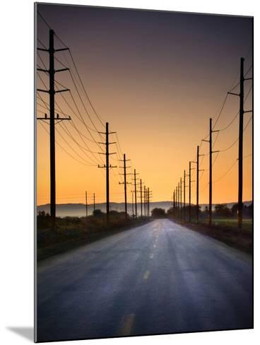 Road and Power Lines at Sunset-www.jodymillerphoto.com-Mounted Photographic Print